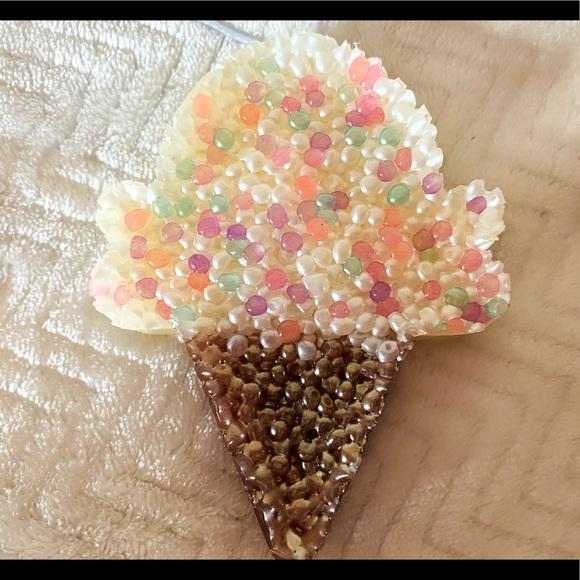 Handmade ice cream cone car freshie